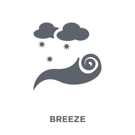 Breeze icon. Breeze design concept from Weather collection. Simple element vector illustration on white background.