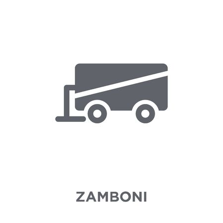 Zamboni icon. Zamboni design concept from Transportation collection. Simple element vector illustration on white background.