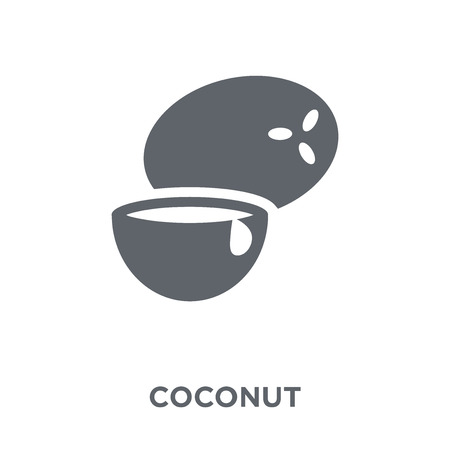 Coconut icon. Coconut design concept from Fruit and vegetables collection. Simple element vector illustration on white background.