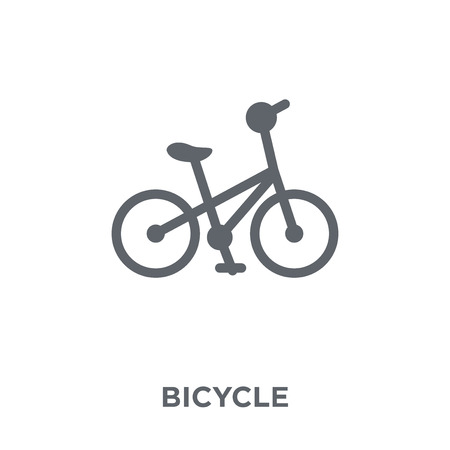 Bicycle icon. Bicycle design concept from  collection. Simple element vector illustration on white background. Stock Illustratie