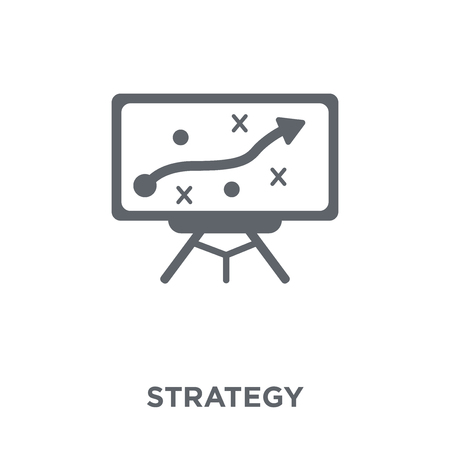 Strategy icon. Strategy design concept from  collection. Simple element vector illustration on white background. Vettoriali