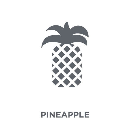 Pineapple icon. Pineapple design concept from Fruit and vegetables collection. Simple element vector illustration on white background.