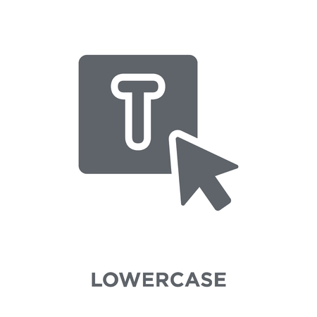 Lowercase icon. Lowercase design concept from Webnavigation collection. Simple element vector illustration on white background. Ilustração