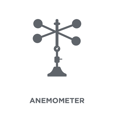 Anemometer icon. Anemometer design concept from Weather collection. Simple element vector illustration on white background.