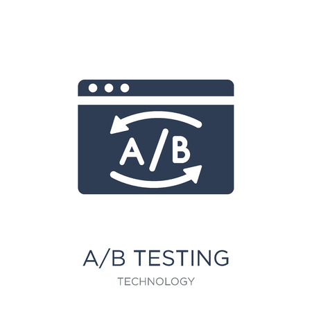 AB Testing icon. Trendy flat vector AB Testing icon on white background from Technology collection, vector illustration can be use for web and mobile, eps10 Illustration