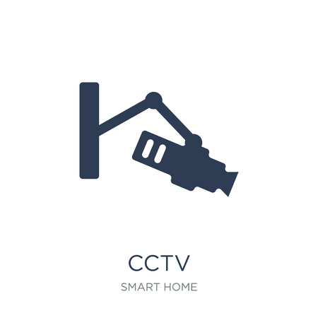 Cctv icon. Trendy flat vector Cctv icon on white background from smart home collection, vector illustration can be use for web and mobile, eps10 Stock Vector - 111309922