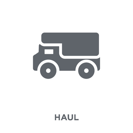 haul icon. haul design concept from Transportation collection. Simple element vector illustration on white background. Stock Vector - 111309923