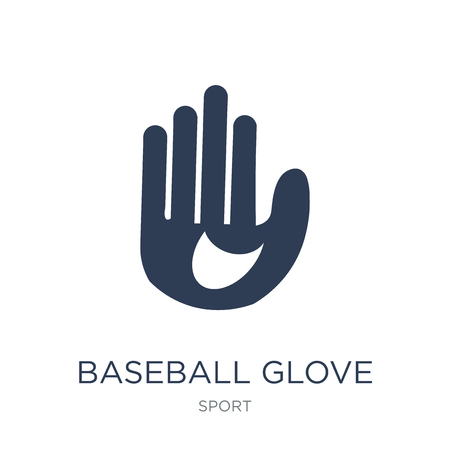 Baseball glove icon. Trendy flat vector Baseball glove icon on white background from sport collection, vector illustration can be use for web and mobile, eps10