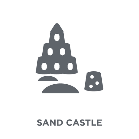 Sand castle icon. Sand castle design concept from  collection. Simple element vector illustration on white background. Illustration