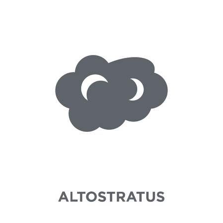 altostratus icon. altostratus design concept from Weather collection. Simple element vector illustration on white background.