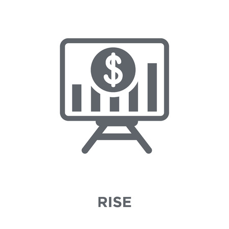 Rise icon. Rise design concept from  collection. Simple element vector illustration on white background.