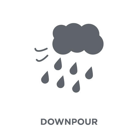 Downpour icon. Downpour design concept from Weather collection. Simple element vector illustration on white background.