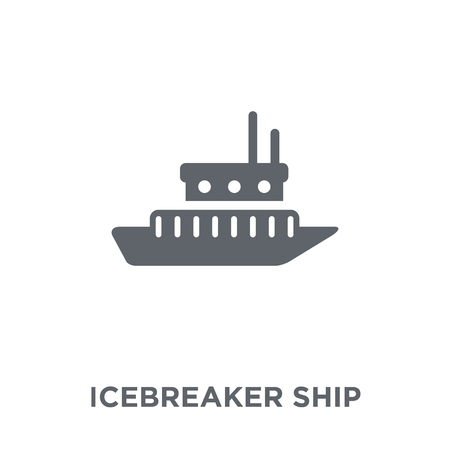 icebreaker ship icon. icebreaker ship design concept from Transportation collection. Simple element vector illustration on white background.