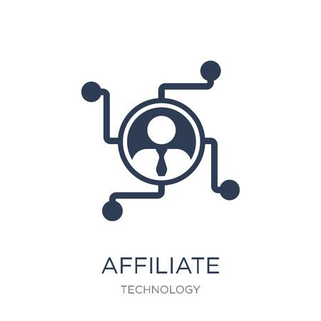 Icône de marketing d'affiliation. Icône de marketing d'affiliation vecteur plat sur fond blanc de la collection Technology, illustration vectorielle peut être utilisé pour le web et mobile, eps10