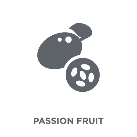 Passion fruit icon. Passion fruit design concept from Fruit and vegetables collection. Simple element vector illustration on white background. Ilustração