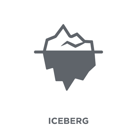 Iceberg icon. Iceberg design concept from  collection. Simple element vector illustration on white background.