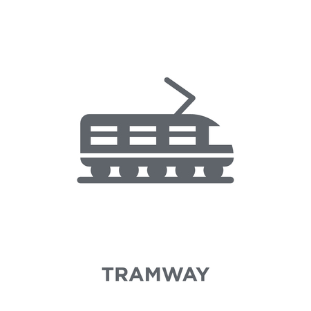 Tramway icon. Tramway design concept from Transportation collection. Simple element vector illustration on white background.