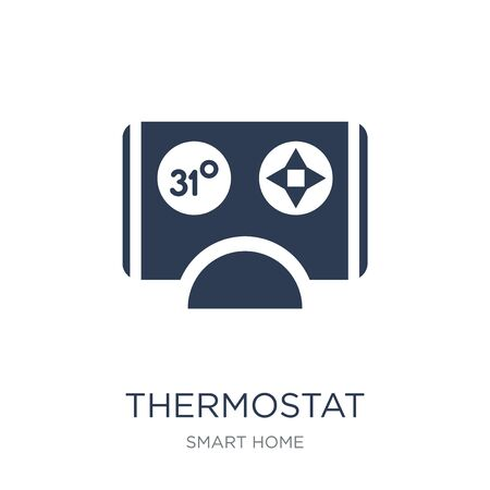 Thermostat icon. Trendy flat vector Thermostat icon on white background from smart home collection, vector illustration can be use for web and mobile, eps10 Çizim