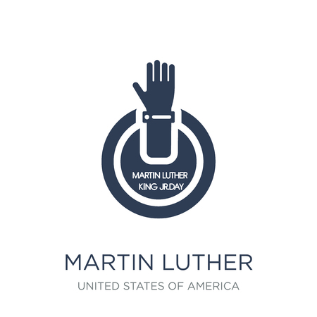 Martin Luther King Day icon. Trendy flat vector Martin Luther King Day icon on white background from United States of America collection, vector illustration can be use for web and mobile, eps10