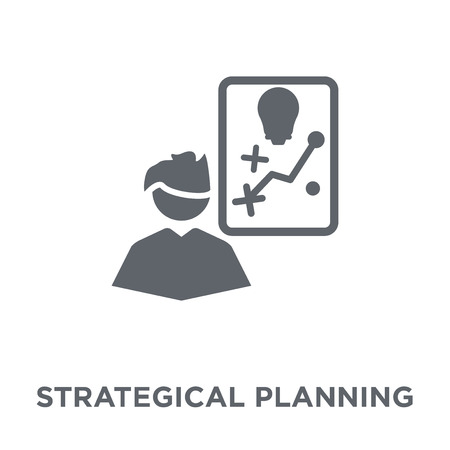 Strategical planning icon. Strategical planning design concept from Strategy 50 collection. Simple element vector illustration on white background.