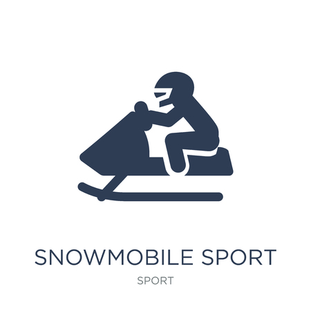Snowmobile sport icon. Trendy flat vector Snowmobile sport icon on white background from sport collection, vector illustration can be use for web and mobile, eps10 Reklamní fotografie - 111974156