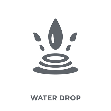 Water drop icon. Water drop design concept from  collection. Simple element vector illustration on white background.