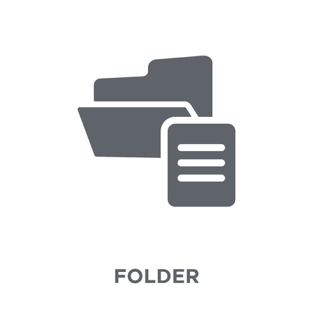 Folder icon. Folder design concept from  collection. Simple element vector illustration on white background. Ilustração