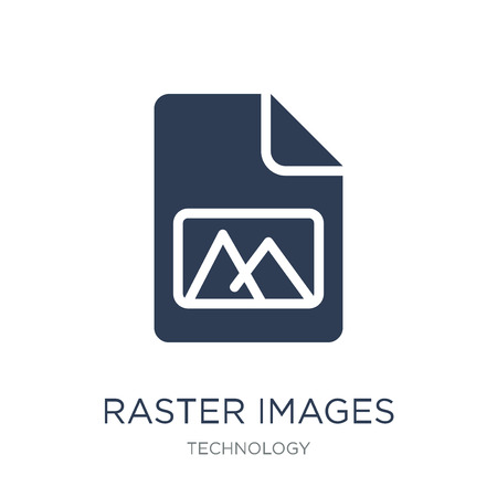 Raster Images icon. Trendy flat vector Raster Images icon on white background from Technology collection, vector illustration can be use for web and mobile, eps10