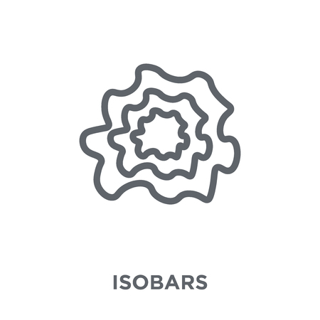 Isobars icon. Isobars design concept from Weather collection. Simple element vector illustration on white background.