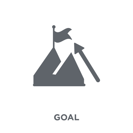Goal icon. Goal design concept from  collection. Simple element vector illustration on white background.