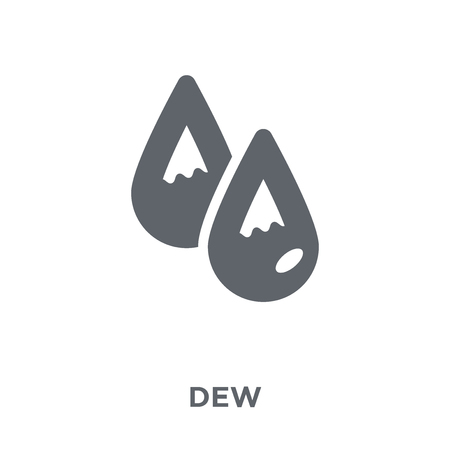 dew icon. dew design concept from Weather collection. Simple element vector illustration on white background.