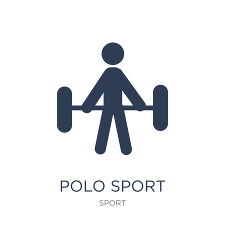 polo sport icon. Trendy flat vector polo sport icon on white background from sport collection, vector illustration can be use for web and mobile, eps10 Illustration