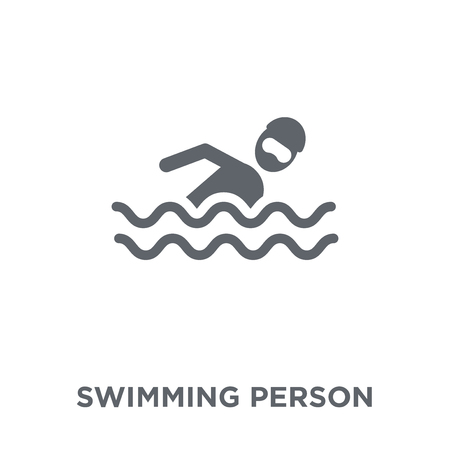 Swimming person icon. Swimming person design concept from Summer collection. Simple element vector illustration on white background.