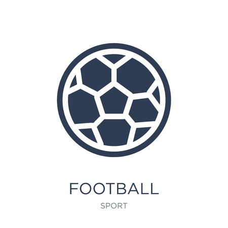 Football icon. Trendy flat vector Football icon on white background from sport collection, vector illustration can be use for web and mobile, eps10 Illustration