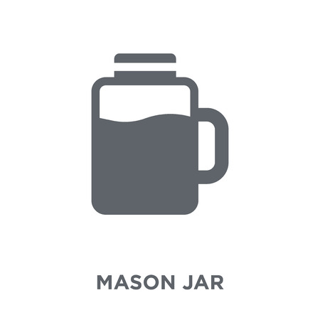 Mason jar icon. Mason jar design concept from Fruit and vegetables collection. Simple element vector illustration on white background.