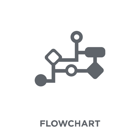 Flowchart icon. Flowchart design concept from  collection. Simple element vector illustration on white background. Illustration