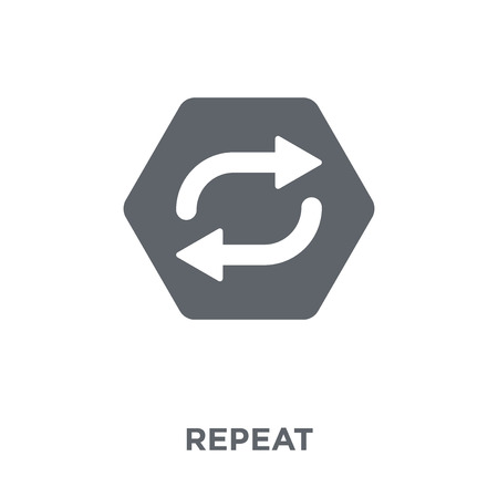 Repeat icon. Repeat design concept from  collection. Simple element vector illustration on white background. 向量圖像