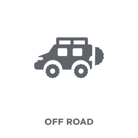 Off road icon. Off road design concept from Transportation collection. Simple element vector illustration on white background. 向量圖像