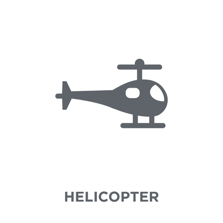 Helicopter icon. Helicopter design concept from  collection. Simple element vector illustration on white background.