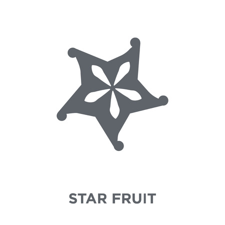 Star fruit icon. Star fruit design concept from Fruit and vegetables collection. Simple element vector illustration on white background. Ilustracja