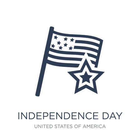 Independence day icon. Trendy flat vector Independence day icon on white background from United States of America collection, vector illustration can be use for web and mobile, eps10