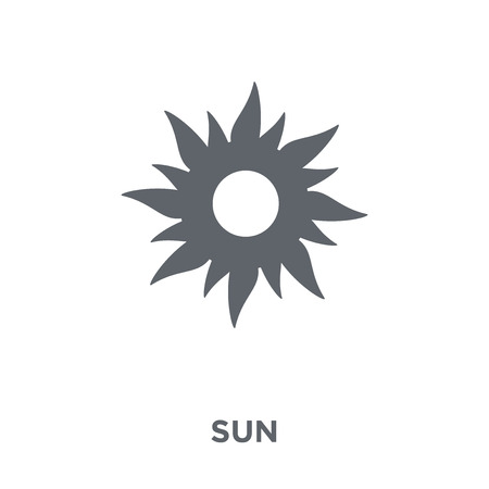 Sun icon. Sun design concept from  collection. Simple element vector illustration on white background.
