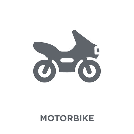Motorbike icon. Motorbike design concept from  collection. Simple element vector illustration on white background. Stock Vector - 112417095