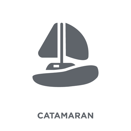 catamaran icon. catamaran design concept from Transportation collection. Simple element vector illustration on white background. Stock Vector - 112417098