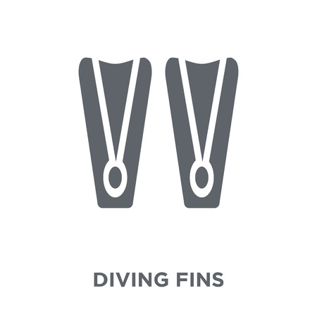 Diving fins icon. Diving fins design concept from Summer collection. Simple element vector illustration on white background. Banque d'images - 111309910