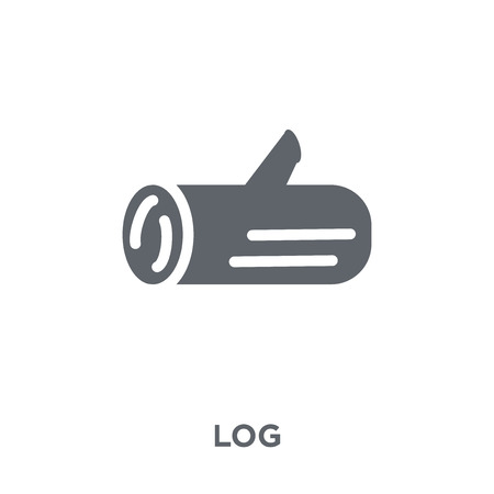 Log icon. Log design concept from  collection. Simple element vector illustration on white background. Zdjęcie Seryjne - 112416799