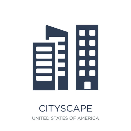 Cityscape icon. Trendy flat vector Cityscape icon on white background from United States of America collection, vector illustration can be use for web and mobile, eps10