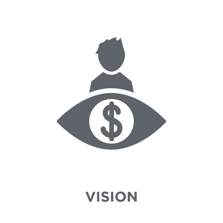 Vision icon. Vision design concept from  collection. Simple element vector illustration on white background. Illustration