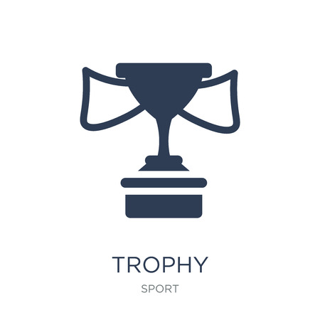 Trophy icon. Trendy flat vector Trophy icon on white background from sport collection, vector illustration can be use for web and mobile, eps10