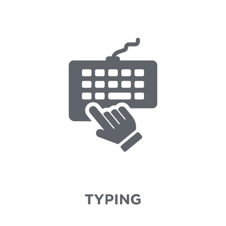 Typing icon. Typing design concept from  collection. Simple element vector illustration on white background.